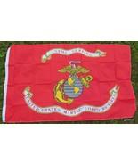 "NEW Flag Banner U S Marines Retired ""Semper Fi""  Eagle Anchor Globe  36 ... - $12.40"