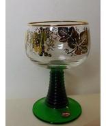 "Bockling Wine Glasse Green Beehive Stem Gold Decoration 5.5"" - $15.00"