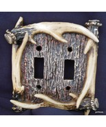 "New Double Switch Plate with Antlers 5.5 x 6"" Boxed - $12.00"