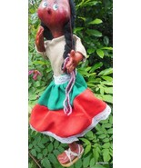 "Vintage Hand Made Woman Mexico Marionette Puppet 13"" - $45.40"