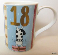 "Dunoon Mug Birthday 18 Helen Rhodes  Bone China 4.25"" - $19.00"