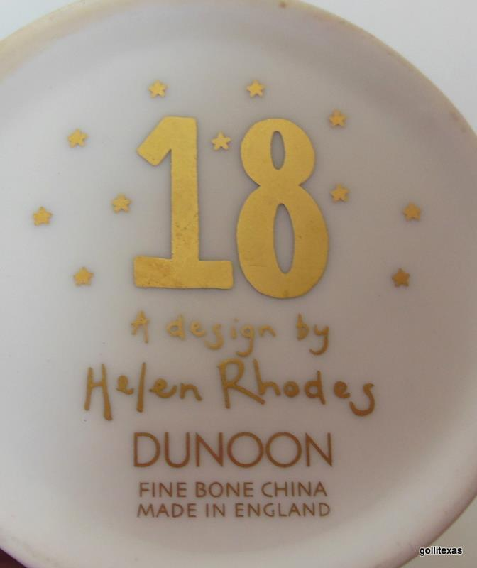 Dunoon Mug Birthday 18 Helen Rhodes  Bone China 4.25""