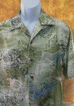 Men's Hawaiian Shirt Caribbean Joe  Medium  Vintage  100% Rayon Greens - $35.40