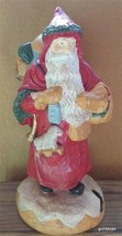 """Vintage Old World Santa with Bag of Toys and Toy Lamb Hand Painted Resin 9"""" - $29.40"""