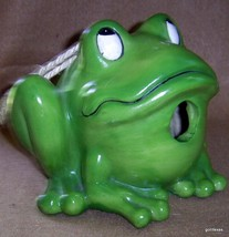 "Green Smiley Frog Bird House  6"" - $15.00"