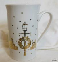 "Golden City Christmas Mug Gold on White Studio Nova 5"" - $15.00"