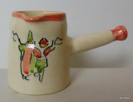 "Small Pitcher Hand Made 2.5"" Offset Handle Dancers Wedding Jordan - $19.00"