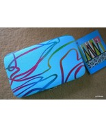 New NIB Manicure Set Blue 4.5 x 2.5 Case + 6 Color Coordinated Nail Tools - $12.40
