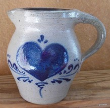"Small  Pitcher Creamer Salt Glaze Union Stoneware  4.5"" USA Hand Made - $22.00"