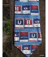 Motor Oil Cans Tie  Men's Tie Structure Linen Silk Blend - $16.40