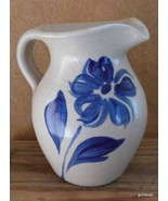 "Small Pottery Pitcher Creamer with Daisy Williamsburg Pottery ? 4.5"" USA - $18.00"