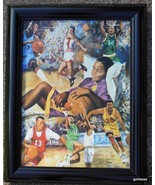 "Black Boy Basketball Dreams Canvas Transfer Framed 15 x 19"" - $60.40"