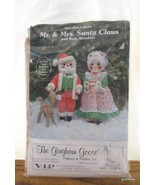Vintage Instruction Kit and Pattern Mr and Mrs Claus and Reindeer 1980 2... - $14.40