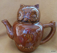 "Vintage Brown Owl Tea pot 6"" - $27.00"