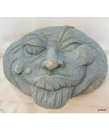 "Strange Face Garden Art Looks Like Concrete 8.5 x 7 x 4"" Winking - $27.99"