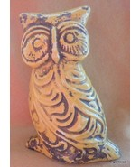 "NEW Antique Yellow Owl  8"" Made to Look Old Ceramic - $27.40"