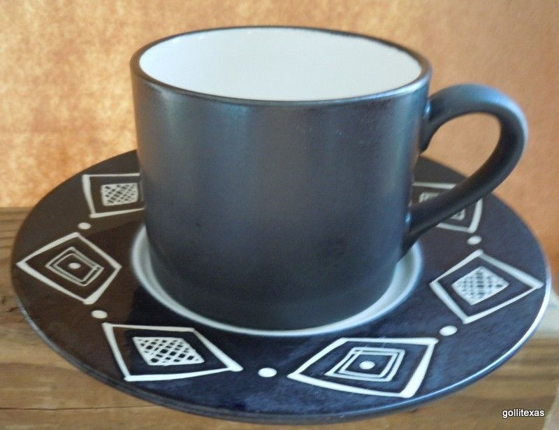 Vintage Pottery Barn Cup and Saucer Bongo and similar items