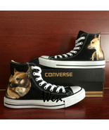 Pet Dog Design Sneakers Men Women's Converse All Star Hand Painted Canva... - $149.00