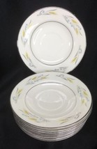 Homer Laughlin Cavalier Somerset Wheat Saucers Lot Of 10 - $18.80