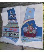 Two Tapestry Pieces for Making a Noah's Ark Vest - $14.00