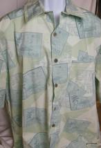 Hawaiian Shirt Caribbean Swimwear 100% Cotton XL Stamps - $28.40