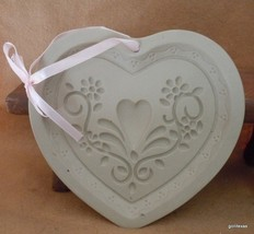 "Ceramic Cookie Mold Country Heart 6 x 6"" - $16.00"