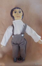 "Hand Made  Primitive Folk Art Doll Cloth 15"" Boy Vintage - $50.40"