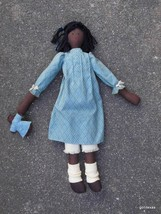 "Hand  Made Black Rag Doll with Her Own Little Doll 20"" - $60.40"