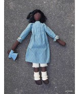 """Hand  Made Black Rag Doll with Her Own Little Doll 20"""" - $60.40"""