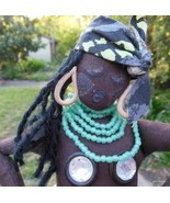 "Hand  Made Black African Dancer Rag Doll  16"" Jacque - $60.40"