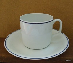 Vintage Georges Boyer  Limoges France Cup and Saucer  White with Cobalt ... - $10.00