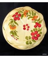 "Ceramic Mold Hand Painted in Portugal Teleflora 6"" Diameter Flowers - $15.00"