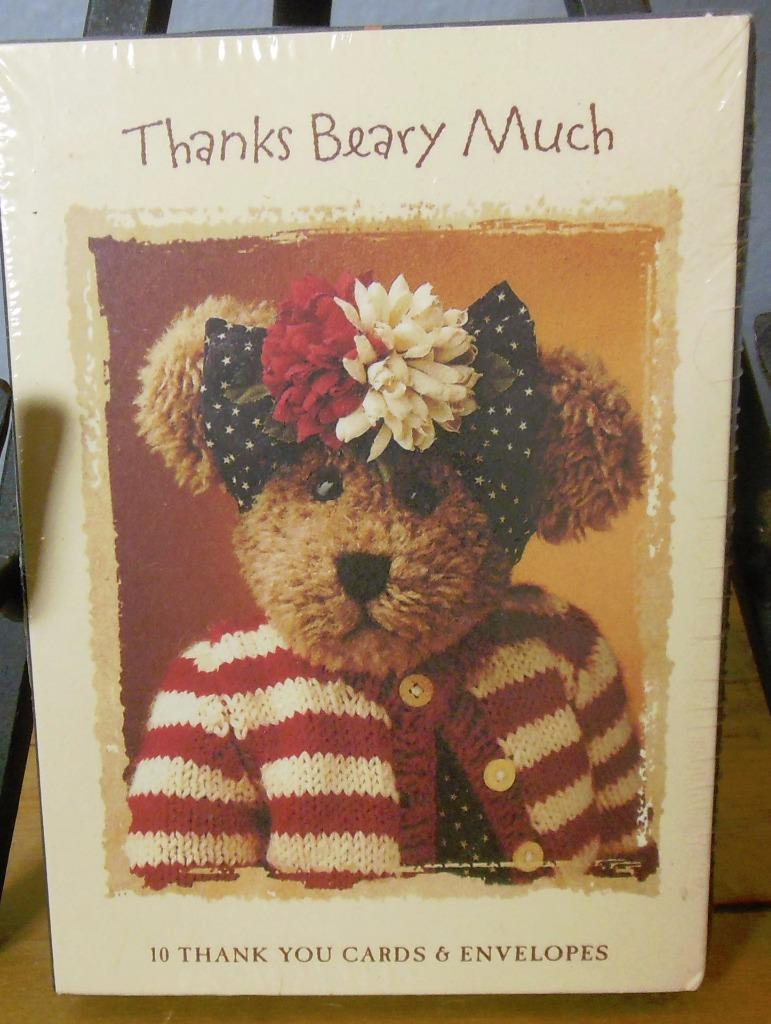 "Boyds Bears  Sealed Box of 10 Thank You Notes ""Thanks Beary Much"""