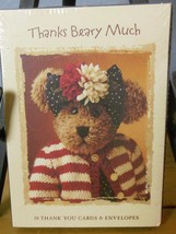 "Boyds Bears  Sealed Box of 10 Thank You Notes ""Thanks Beary Much"" - $11.40"