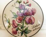 "Villeroy & Boch Round Trinket Box Lathyrus Tuberoses Sweet Peas 4 x 2"""