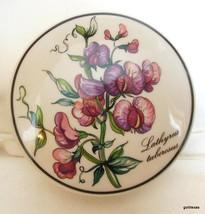 "Villeroy & Boch Round Trinket Box Lathyrus Tuberoses Sweet Peas 4 x 2"" - $25.00"