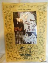 Vintage Folk Art Applique Patterns for Sweatshirts or Jaclets Kindred Spirits - $14.40