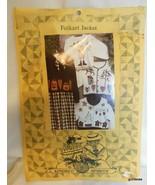 Vintage Folk Art Applique Patterns for Sweatshirts or Jaclets Kindred Sp... - $14.40
