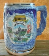 "Vintage Washington DC Beer Stein Blue with Washington Icons 4.5"" - $14.00"