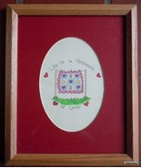 "Patchwork Print Matted Oak Frame ""Life is a Patchwork of Love"" 9 x 11"" - $14.00"