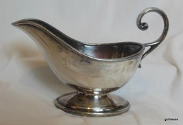 "Silver Plate Gravy Boat 7.5"" Spout to Handle - $15.00"