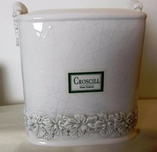 "Square Ceramic Tissue Holder Croscill Made to Look Antique 5 x 6"" - $29.00"