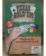 "Texas Hold'Em Poker Set Boxed Never Used 9.5 x 7 x 1.5"" - $15.00"