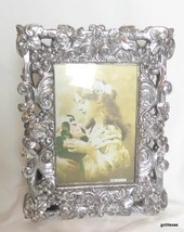 "Silver Tone Frame Highly Decorated for 5 x 7 Photo 8 x 10"" Complete - $35.40"