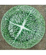 Secla Majolica Cabbage Salad Plate Green Portugal - $19.00