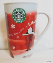 "Starbucks Tall Christmas Mug 2010 ""Share"" Bone China 6"" - $15.00"