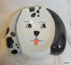 "Vintage Hand Painted Dog Bowl Made in Italy 7 x 7.5 x 3"" - $24.00"