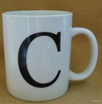 "Initial Mug ""C"" Black on White Oneida My Mug Collection 4"" - $14.00"