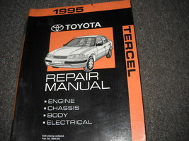 1995 TOYOTA TERCEL Service Shop Repair Workshop Manual OEM FACTORY  - $98.95
