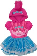 Trolls Poppy Toddler Girls' Costume Dress With Hood And Fur Hair, Pink A... - $39.46